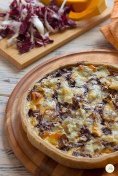 Quiche Zucca e Radicchio No Salt Recipes, Veg Recipes, Wine Recipes, Italian Recipes, Whole Food Recipes, Vegetarian Recipes, Cooking Recipes, Antipasto, Pumkin Recipes