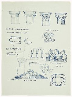 Doric, Ionic, Corinthian - need to brush up your architectural history 101? Page through this visual history sketch by Eero Saarinen from ou...