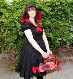 Always a favourite in my shop: Dress inspired by the fairy tale Little Red Riding Hood Red Riding Hood, Lolita Dress, Little Red, Alternative Fashion, Fairy, Kawaii, Etsy Shop, Inspired, Trending Outfits