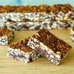 Chocolate-Peanut Butter Granola Bars, a perfect after-school snack!