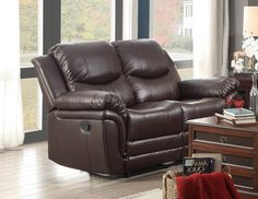 St Louis Park Collection Double Reclining Love Seat 8515BRW-2With a style that makes it a versatile choice for a number of room settings, the St Louis Park Collection will complement your home spectacularly. Generously stuffed and designed with your comfort in mind, each end unit and chair fully reclines with the pull of a lever. The brown bonded leather match covering further enhances the collection.Features:St Louis Park CollectionContemporary StyleDark Brown ColorBonded Leather Match…