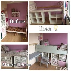 Most recent No Cost Ikea kallax Ikea hack Making a bed Double layer storage bed Style An Ikea kids' space continues to fascinate the little ones, since they're provided much more th Ikea Bed Hack, Ikea Hack Storage, Bed Ikea, Ikea Hacks, Ikea Malm, Ikea Kallax Hack, Ikea Kids Bedroom, Diy Bedroom Decor, Bedroom Ideas