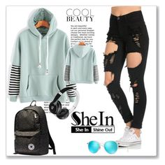 """""""SheIn"""" by elma-polyvore ❤ liked on Polyvore featuring Converse, Beats by Dr. Dre and Ray-Ban"""