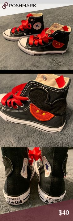 best service abc13 d8b46 NWOT- Mickey Mouse converse sneakers New condition , toddler size 11, never  worn,