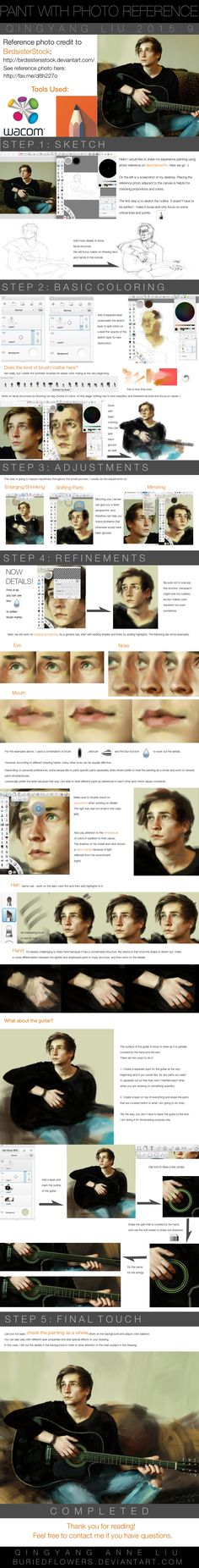 Tutorial: How to Paint a Photograph in Sketchbook by buriedflowers.deviantart.com on @DeviantArt