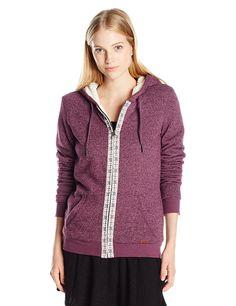Amazon.com: Roxy Juniors Signature Sherpa Fleece Sweatshirt: Clothing