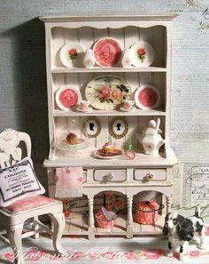 OOAK Scale Dollhouse Miniature Cottage White by maisondepetite
