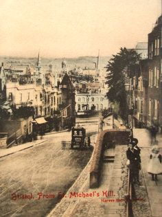 St Michaels Hill Bristol 1905. Bristol England, Bristol City, Uk History, Local History, Great Places, Places To Go, Old Pictures, Framed Pictures, Hill Station