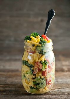 Your taste buds will be begging for more of this Mason Jar Veggie Macaroni and Cheese recipe.