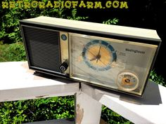 Mid Century MADNESS Glow Light Westinghouse Model H931L5 AM Tube Radio Alarm Clock Totally Restored! by RetroRadioFarm on Etsy