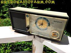 Mid Century MADNESS Glow Light Westinghouse Model H931L5 AM Tube Radio Alarm Clock Totally Restored! by RetroRadioFarm on Etsy