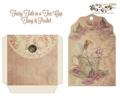 Free from glenda's World : Fairy in a Tea Cup Tag-N-Pocket