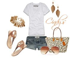 """Tee and Shorts"" by cindycook10 on Polyvore"