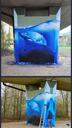 Funny pictures about Amazing Shark Graffiti. Oh, and cool pics about Amazing Shark Graffiti. Also, Amazing Shark Graffiti. 3d Street Art, Murals Street Art, Amazing Street Art, Street Art Graffiti, Street Artists, Urban Graffiti, Graffiti Artwork, Art Mural, Graffiti Artists