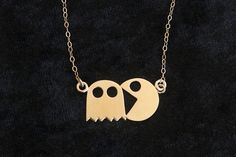 Hey, I found this really awesome Etsy listing at https://www.etsy.com/listing/118665891/pacman-necklace-geekery-jewelry-gold-pac