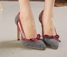Women Trendy Shoes, features with striking black and white Korean style pumps design, pointed toe and high heels, these shoes match well with variours style