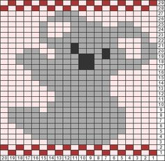 Tricksy Knitter Charts: Koala bear copy (86152) copy (86154) by Mum3boys