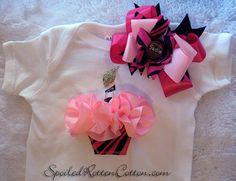 Pink Zebra Print Birthday Ruffled Cupcake by SpoiledRottenCotton, $30.00