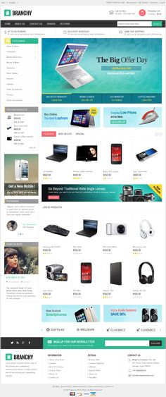 Branchy - Magento Responsive Theme   Live Preview and Download: http://themeforest.net/item/branchy-magento-responsive-theme/8792115?WT.ac=category_thumb&WT.z_author=TemplateMela&ref=ksioks