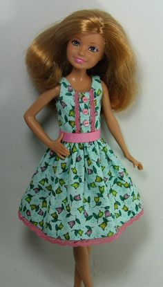 Stacie Doll Clothes Bluegreen Floral Print by OhSoChicDollClothes, $8.00
