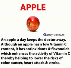 Apple a day....