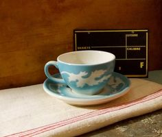 Vintage Syracuse China Blue Oak Leaf Cup and by MyVintageVTCottage