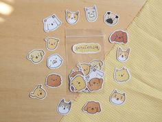 There are a lot of dogs here - waterproof stickers - yellowbananastar - Stickers Journal Stickers, Planner Stickers, Pop Stickers, Artist Alley, Waterproof Stickers, Bullet Journal Ideas Pages, Aesthetic Stickers, Art Store, Stationery Design