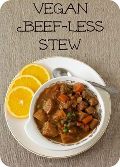 Vegan Slow Cooker Beef-less Stew // As a vegan recipe, beef is out of question, but this delicious stew proves that meatless meals are the best.   The Green Loot #vegan #slowcooker