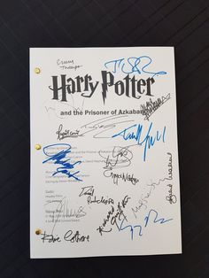 Harry Potter and the Prisoner of Azkaban Film Movie Script with Signatures / Autographs Reprint Unique Gift All of our scripts are high quality laser reprints. It is the full 97 page movie script from Harry Potter and the Prisoner of Azkaban Tan Draft 24th February 2003. Signatures
