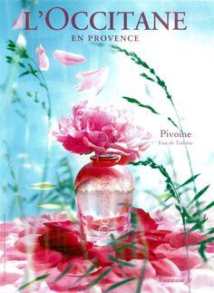 Peony L`Occitane en Provence perfume - a fragrance for women 2010 Perfume Scents, New Fragrances, Perfume Bottles, Beauty Ad, Luxury Beauty, Occitane En Provence, Cosmetic Design, Cosmetic Packaging, Bottle Design