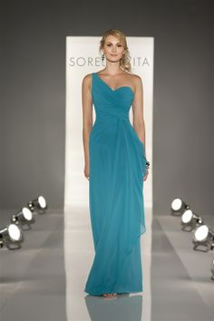 This turquoise BM dress would be gorgeous for a wedding by the beach.