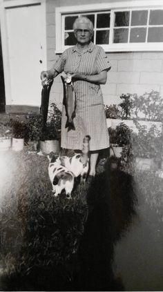 Vintage Photo..Fishies for the Kitties..1950's Original Photo, Old Photo Snapshot, Vernacular Photography, Strange Odd Photograph by iloveyoumorephotos on Etsy