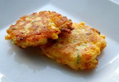 Corn Cheddar Mashed Potato Fritters
