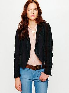 Free People Baja Blazer at Free People Clothing Boutique - StyleSays