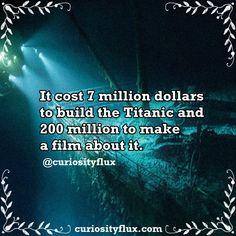 http://instagram.com/curiosityflux https://www.facebook.com/curiosityflux #facts #titanic #curiosidades #curiosityflux