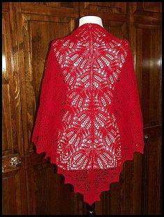 """""""Jaali"""" knit lace shawl in wool fingering weight yarn (pattern by Kitman Figueroa)"""