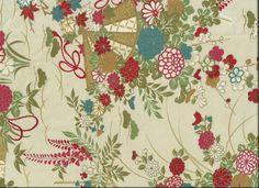 "Silk Kimono ""Floral bouquet""    http://www.kesarankimonofabric.com/"