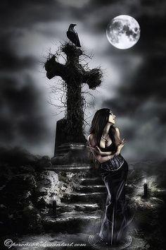 ~ All Things Dark & Beautiful ~ Dark Gothic Art, Gothic Fantasy Art, Gothic Artwork, Gothic Angel, Gothic Fairy, Gothic Horror, Horror Art, Vampires, Gothic Pictures