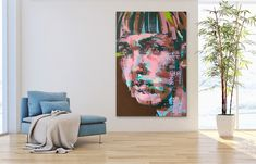 Bowlcut - contemporary pop art for sale online Pop Art Portraits, Art For Sale Online, Contemporary Artists, Tapestry, Artwork, Painting, Home Decor, Hanging Tapestry, Tapestries