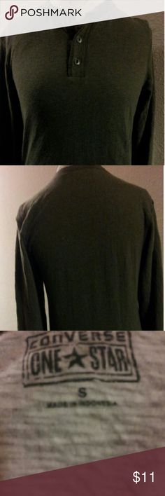 2 Day Sale Converse Unisex Shirt Converse Light Sweatshirt Material Its Grey With White Trimming On The Bottom. This Item Is Not From A Smoke Free Home Thank You For Visiting My Closet. Tops Sweatshirts & Hoodies