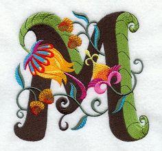 Jacobean Letter M (5 Inch)