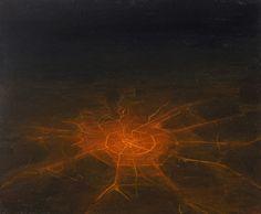 Павел Отдельнов: Серия Неоновый пейзаж Город. 2012, дерево, масло, 50x60