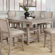The Gray Barn Windswept Rustic 60-inch Counter Height Table, Natural