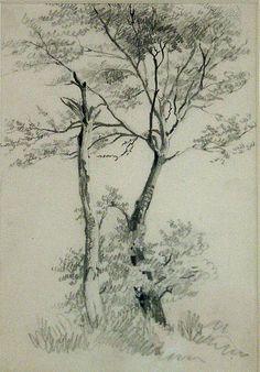 John Constable John Constable Paintings, Art Through The Ages, Tree Sketches, Encaustic Art, Texture Art, Painting & Drawing, Drawing Trees, Art Sketchbook, Tree Art