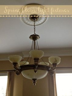 Spring Cleaning Light Fixtures