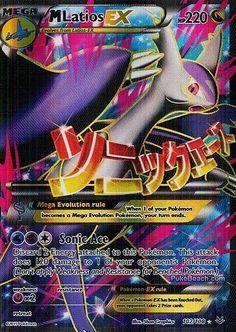 M Latios EX 102/108 - FULL ART XY Roaring Skies PREORDER SHIPS 5/8 #Pokemon