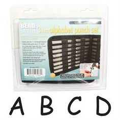 Punches and Stamps 179258: Beadsmith 3Mm Comic Uppercase Alphabet Punch Set With Case -> BUY IT NOW ONLY: $33.11 on eBay!