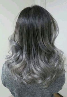 Gray Wig Black Girl Silver Grey Hair Pieces Best Temporary Hair Color For Gray Coverage Silver Ombre Hair, Ombre Hair Color, Gray Ombre, Ash Ombre, Silver Blonde, Hair Colors, Grey Hair Pieces, Grey Hair Looks, Covering Gray Hair