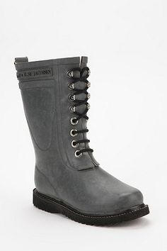 FOLKE Black in 2019 | Boots, Hunter boots, Rubber rain boots