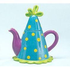 Yellow polka dot kettle